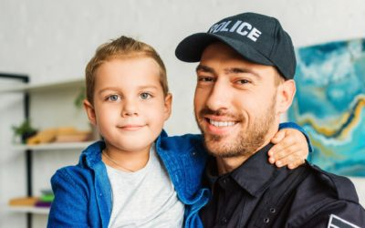 Law Enforcement Officers Handling Children with Autism